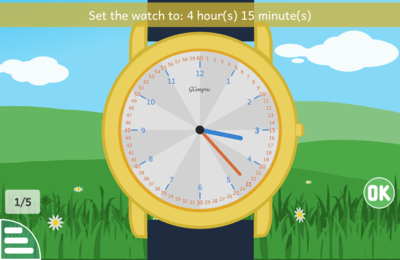 screenshot learning clock
